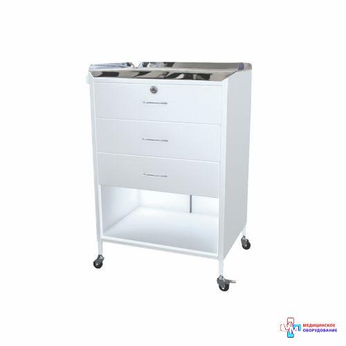 Столик анестезіолога СА-6 (стільниця з нержавіючої сталі)