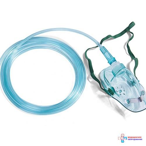 Маска кислородная для взрослых с кислородной трубкой (длина 2,5 м)